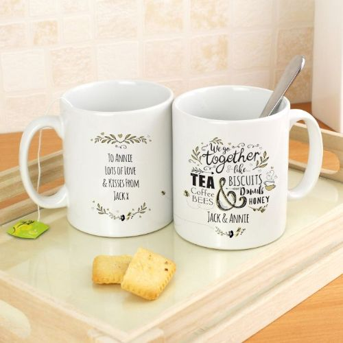 Personalised We Go Together Like... Mug